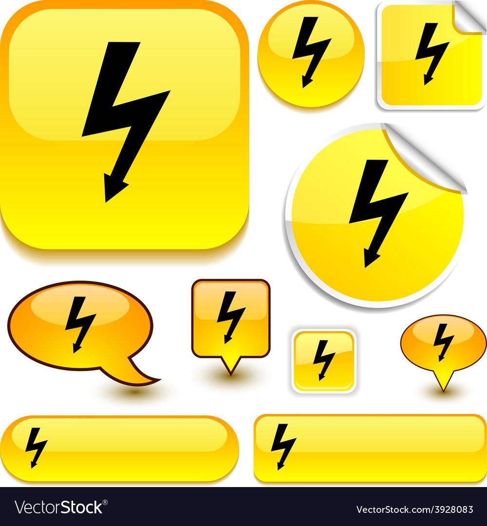 Warning yellow signs vector | Price: 1 Credit (USD $1)