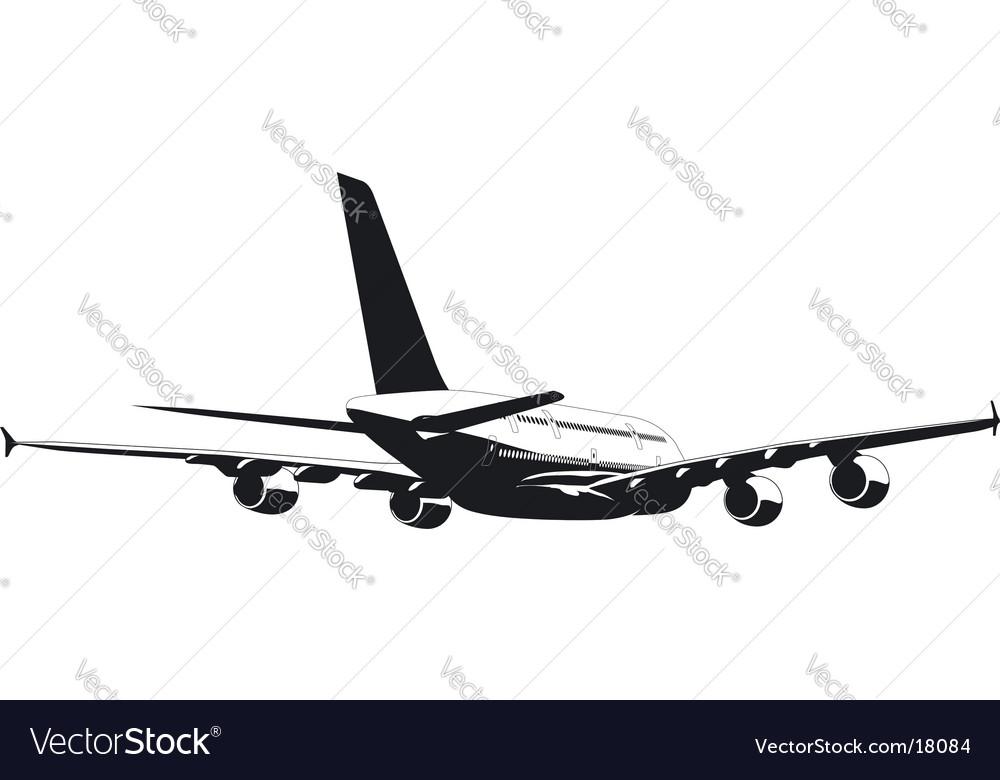 A-380 jetliner silhouette vector   Price: 1 Credit (USD $1)