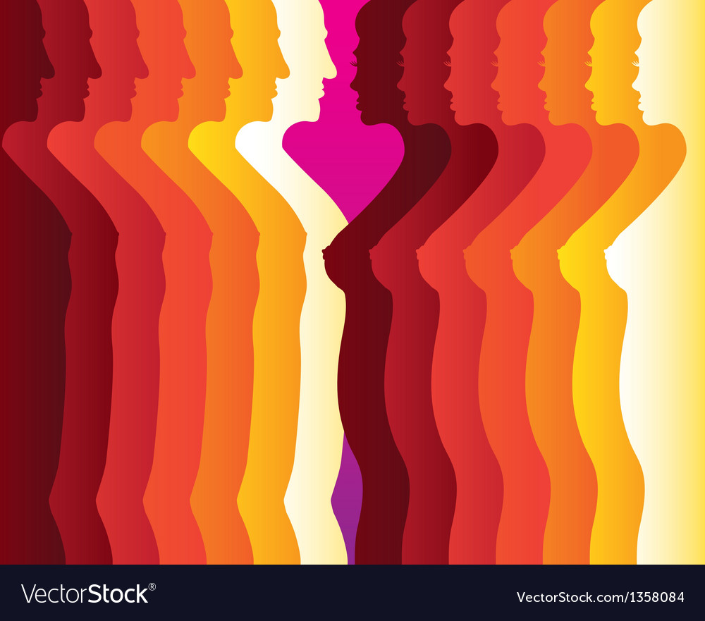 Abstract men women silhouette vector | Price: 1 Credit (USD $1)