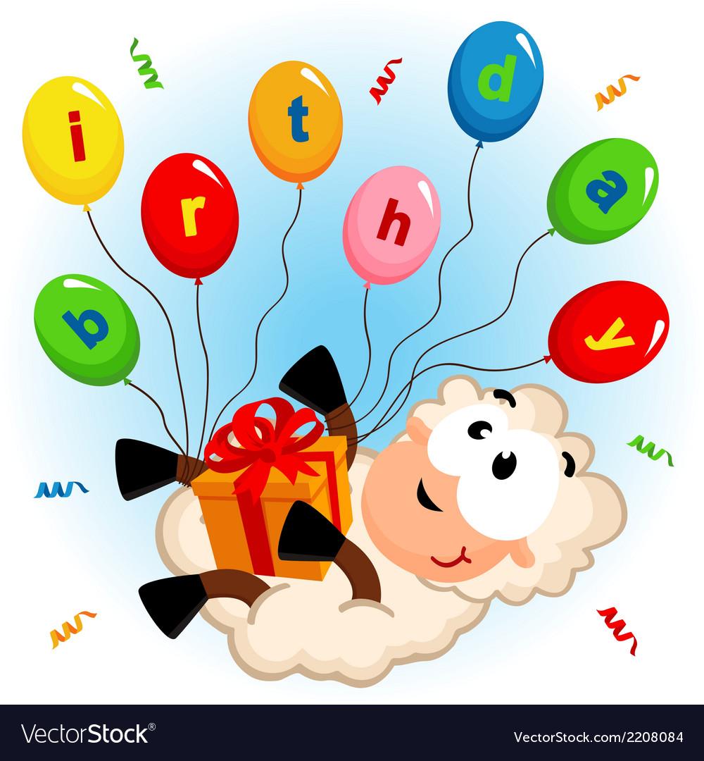 Birthday sheep vector | Price: 3 Credit (USD $3)