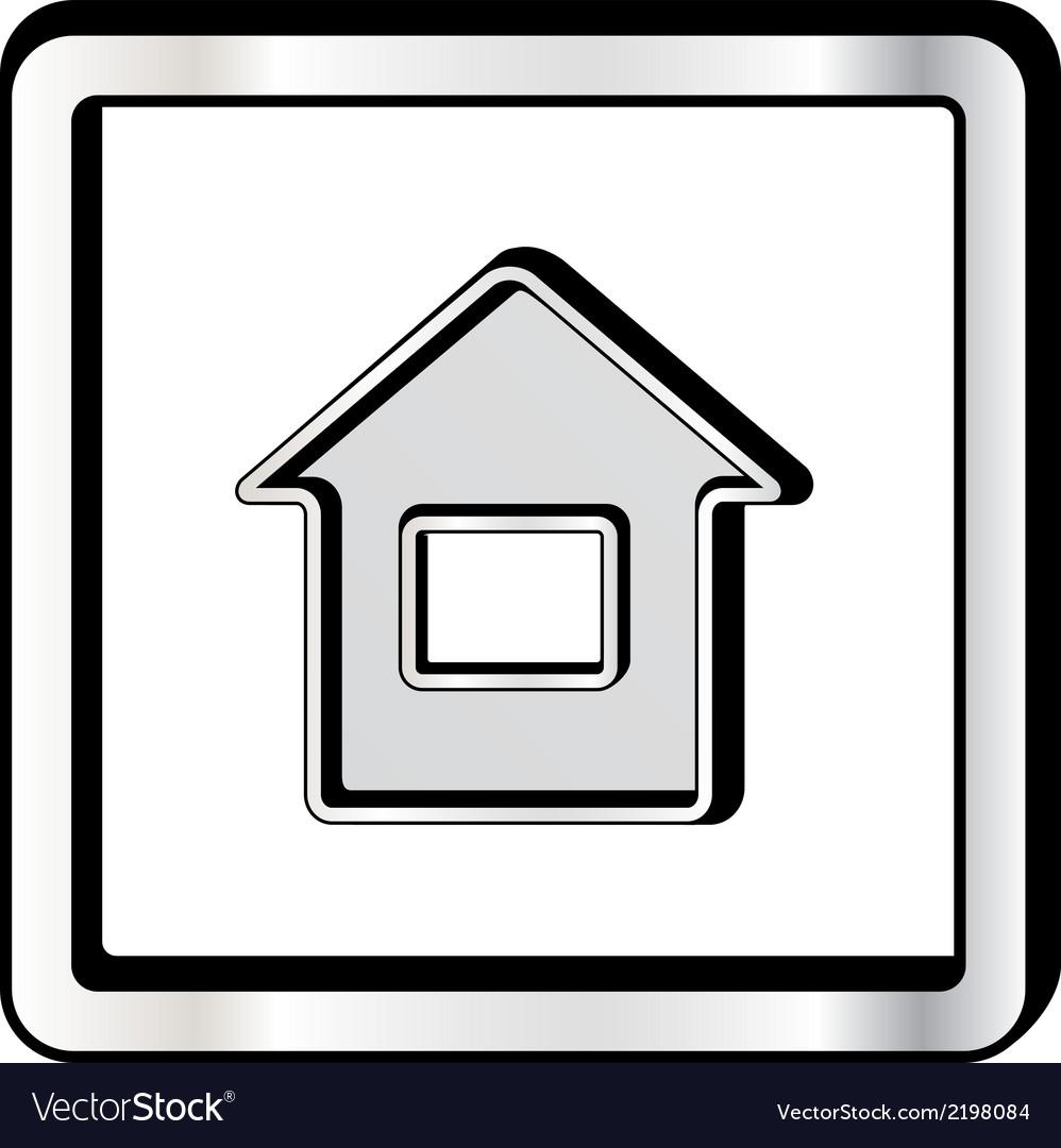Convex house icon vector | Price: 1 Credit (USD $1)