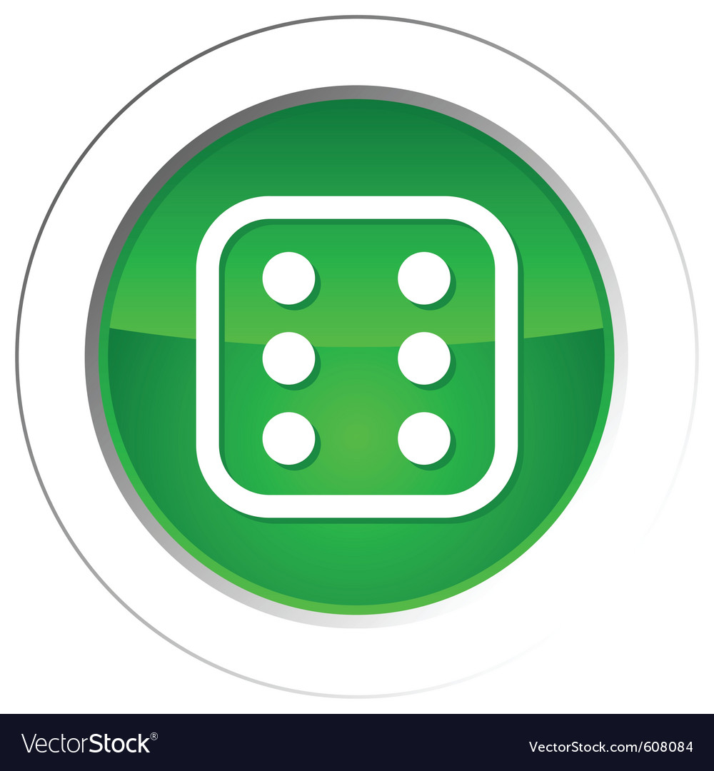 Dice button vector | Price: 1 Credit (USD $1)