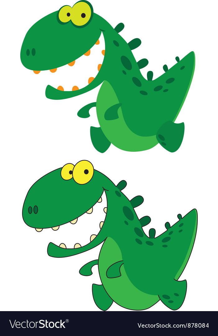 Little smile dino vector | Price: 3 Credit (USD $3)