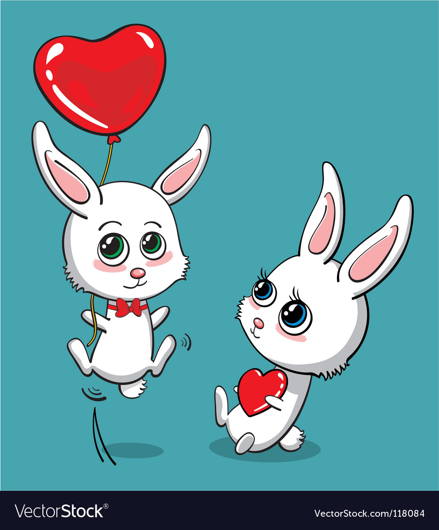 Love bunny vector | Price: 1 Credit (USD $1)
