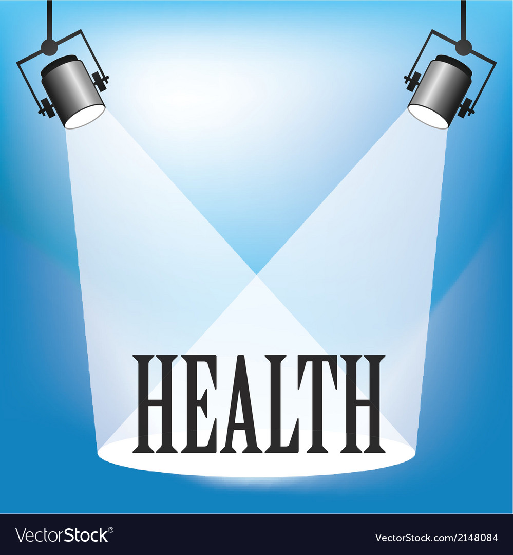 Spotlight health vector | Price: 1 Credit (USD $1)