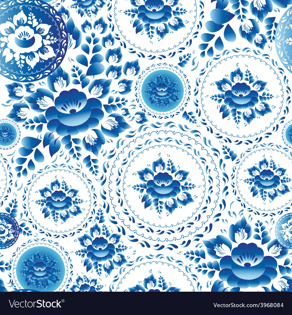 Vintage shabby chic seamless ornament pattern with vector | Price: 1 Credit (USD $1)