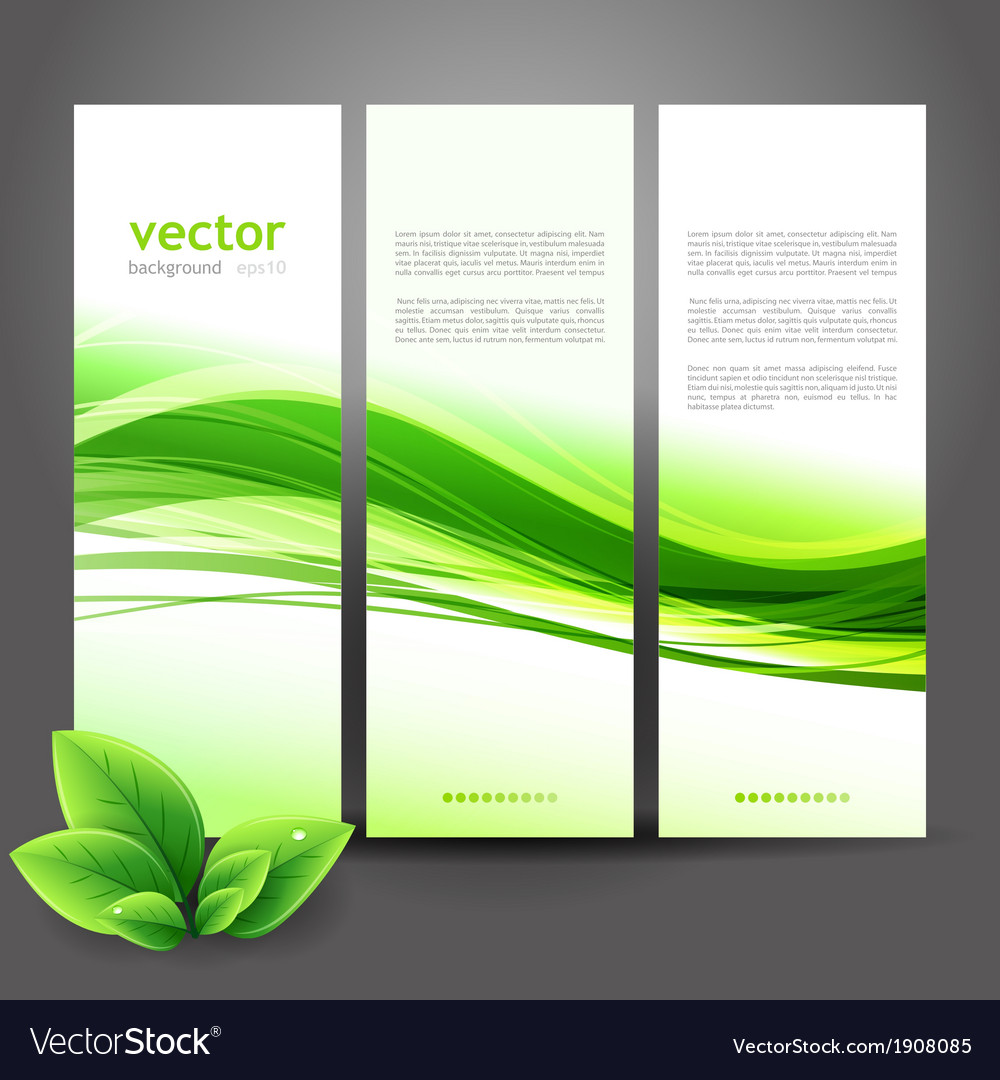 Abstract nature ecology background vector | Price: 1 Credit (USD $1)