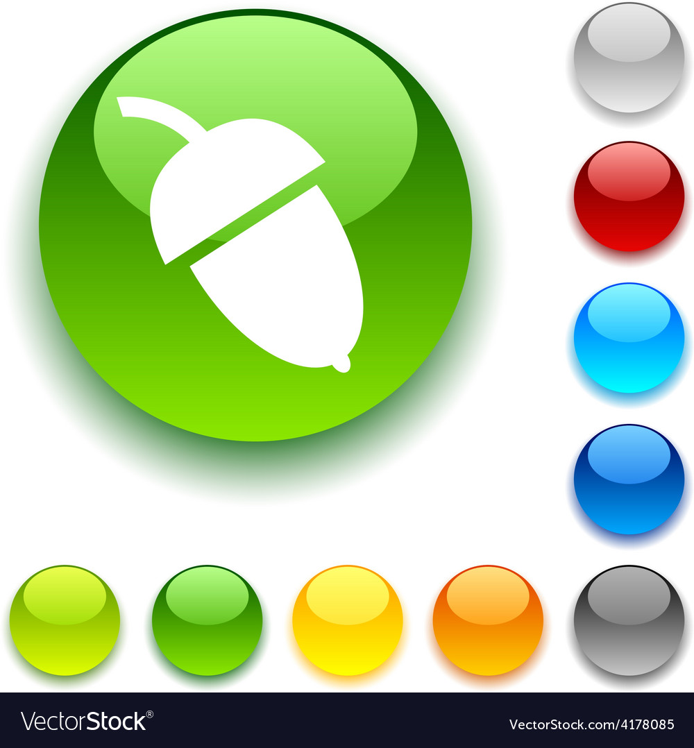Acorn button vector | Price: 1 Credit (USD $1)