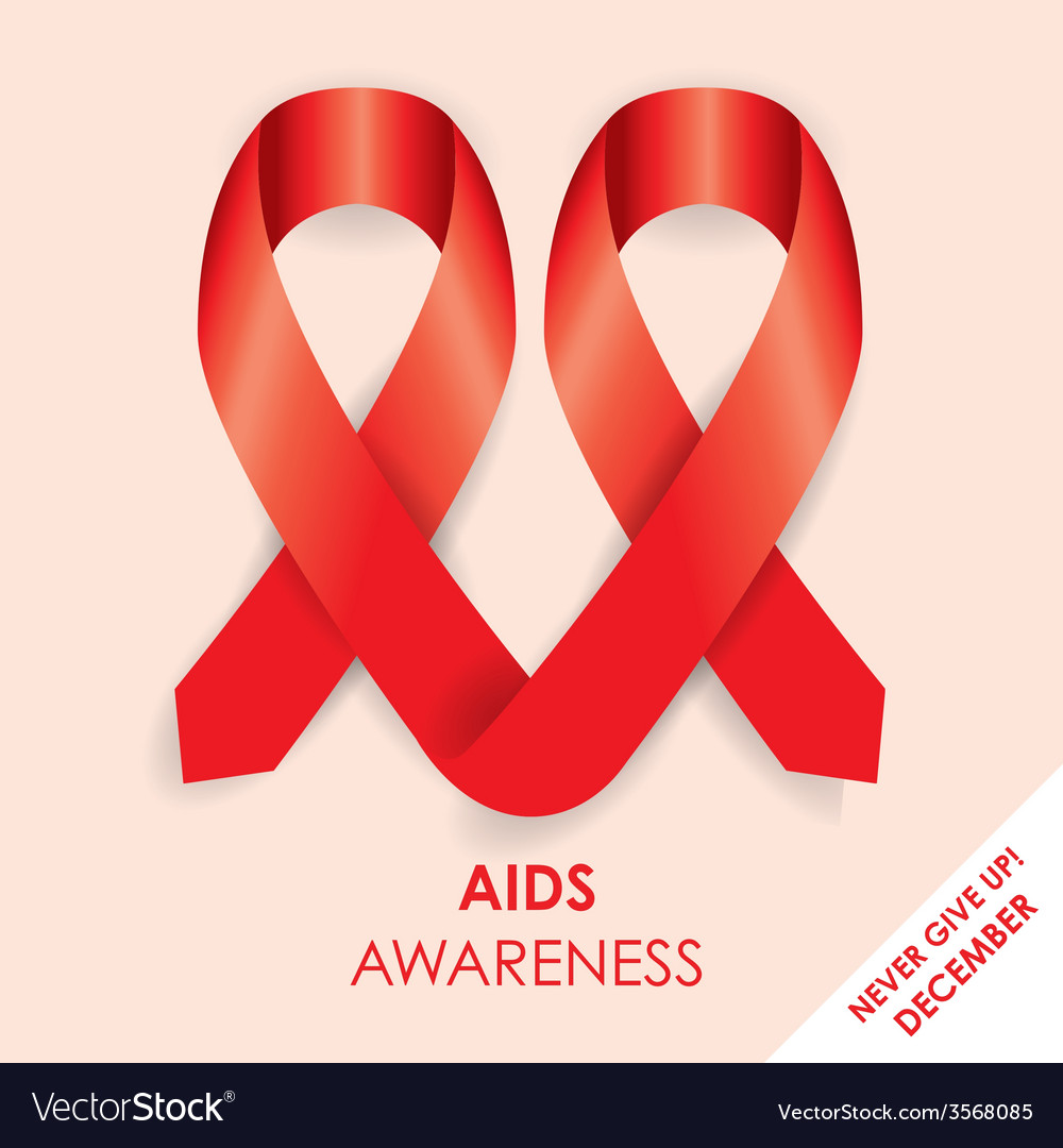Aids ribbon vector | Price: 1 Credit (USD $1)