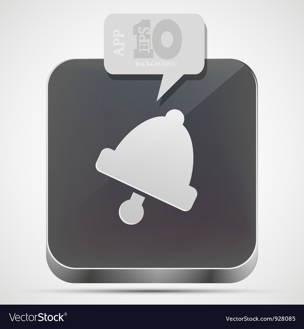 Bell app icon vector | Price: 1 Credit (USD $1)