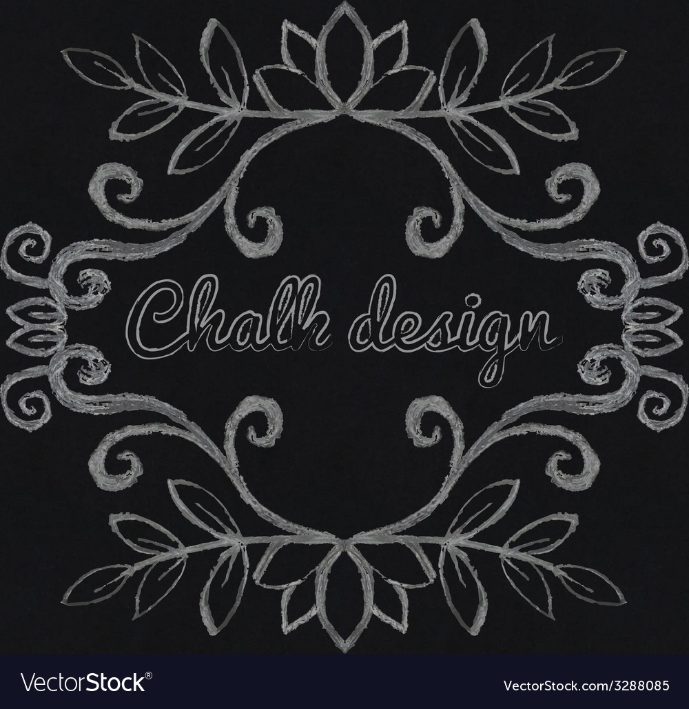 Chalk decorative frame vector | Price: 1 Credit (USD $1)