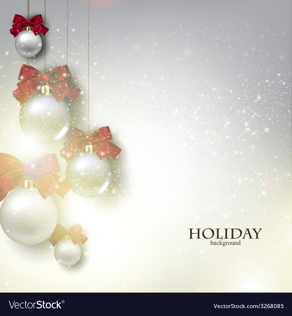 Christmas background with balls xmas baubles vector | Price: 1 Credit (USD $1)