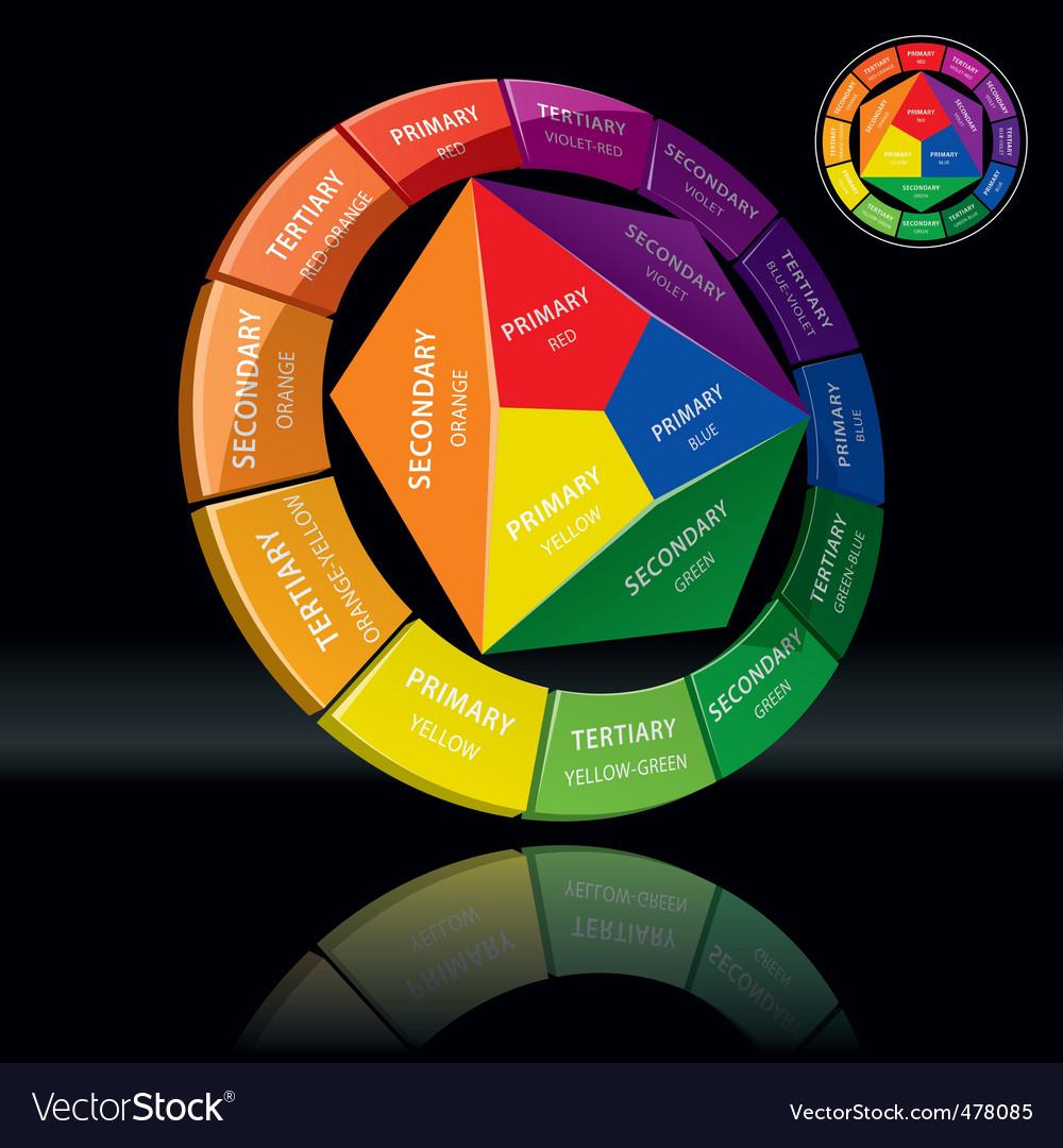 Color wheel vector | Price: 1 Credit (USD $1)
