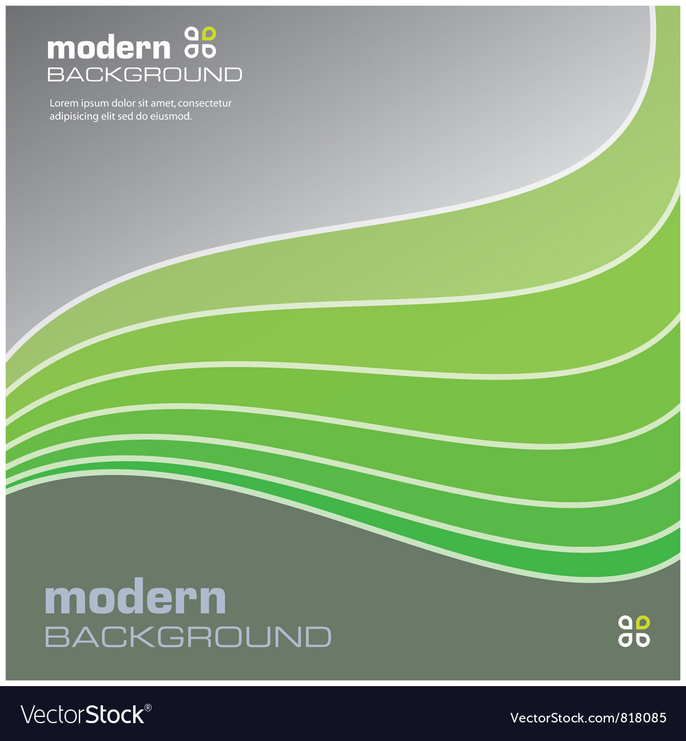 Green modern background vector | Price: 1 Credit (USD $1)