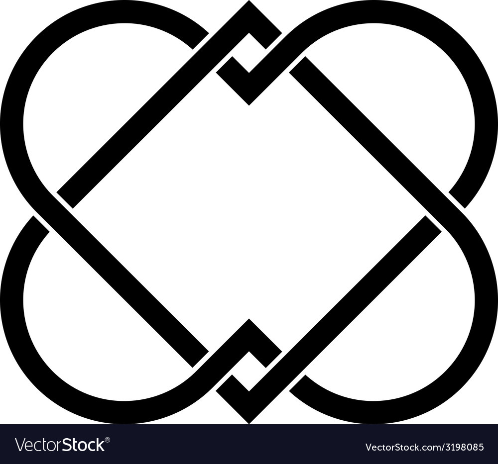 Linked hearts vector | Price: 1 Credit (USD $1)