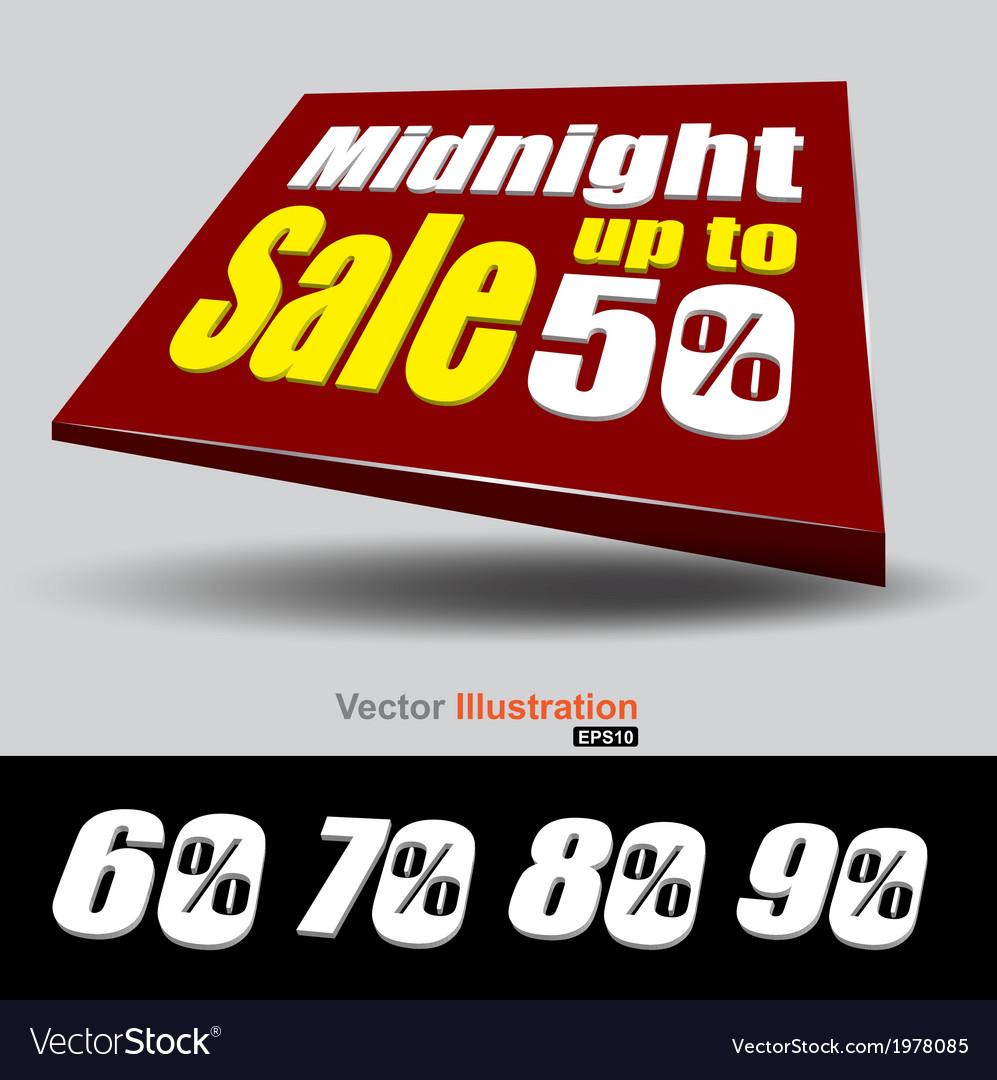 Midnight sale banner vector | Price: 1 Credit (USD $1)