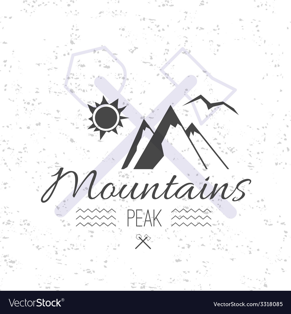 Print on t shirt design theme of the mountains vector | Price: 1 Credit (USD $1)