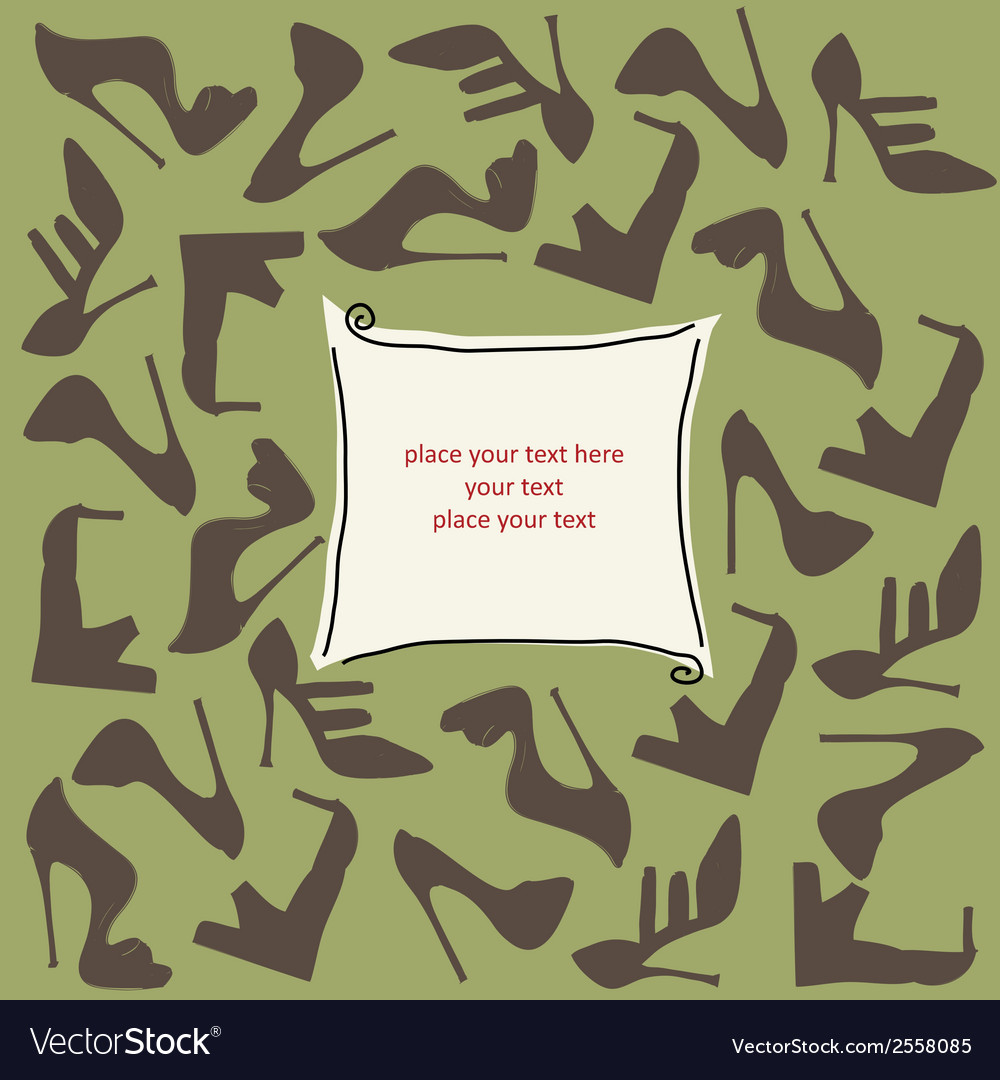 Shoes background vector   Price: 1 Credit (USD $1)