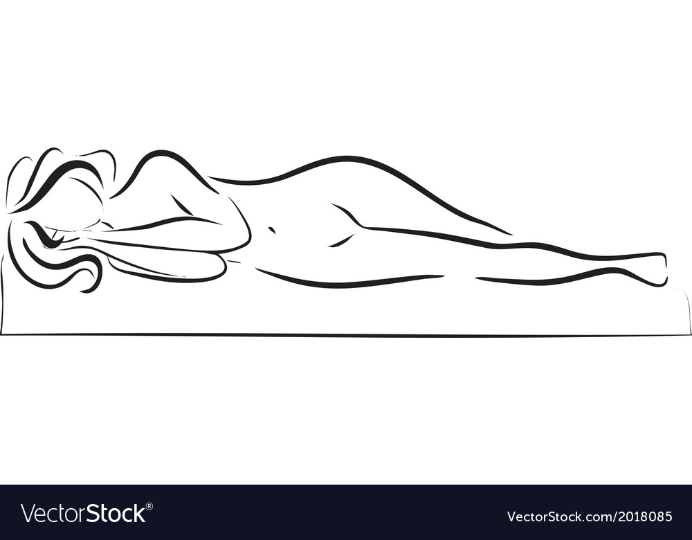 Sleeping woman silhouette vector | Price: 1 Credit (USD $1)