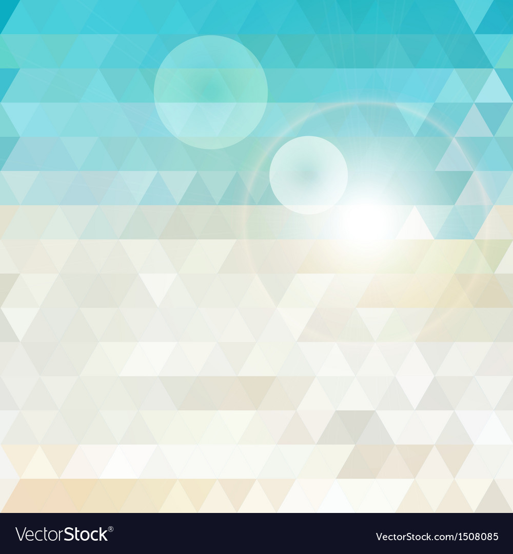 Sunny abstract geometric background vector | Price: 1 Credit (USD $1)