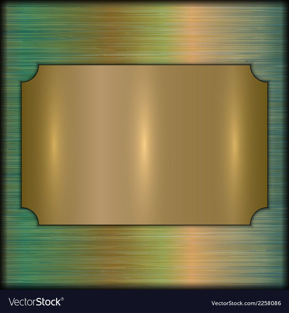 Abstract brushed gold award plate on beige vector | Price: 1 Credit (USD $1)
