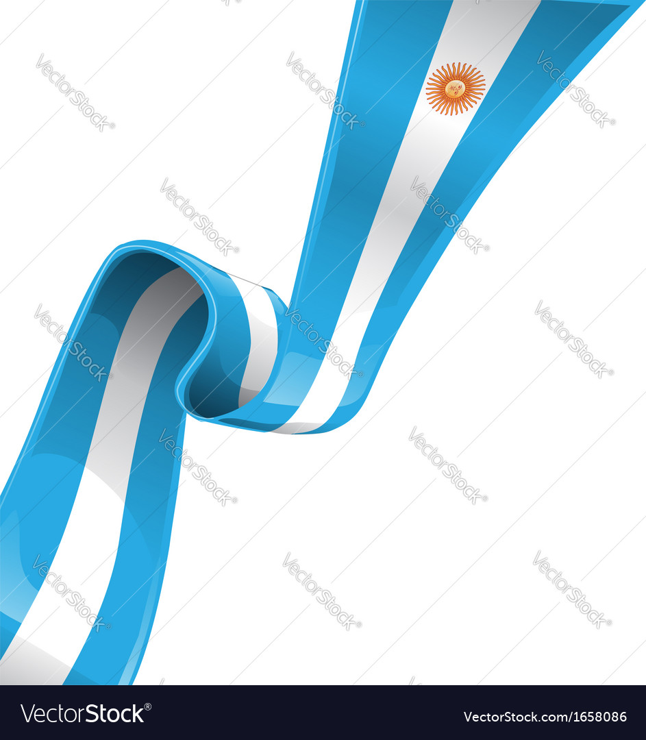 Argentina ribbon flag vector | Price: 1 Credit (USD $1)