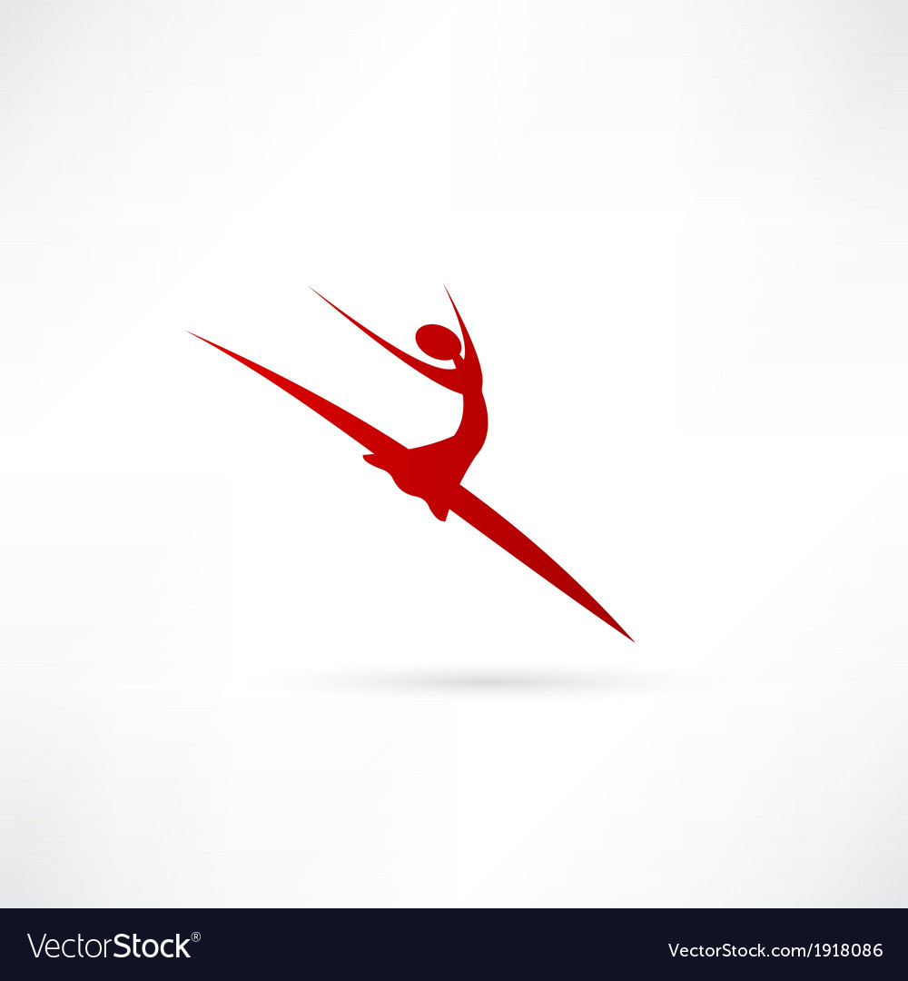 Ballet dancer icon vector | Price: 1 Credit (USD $1)