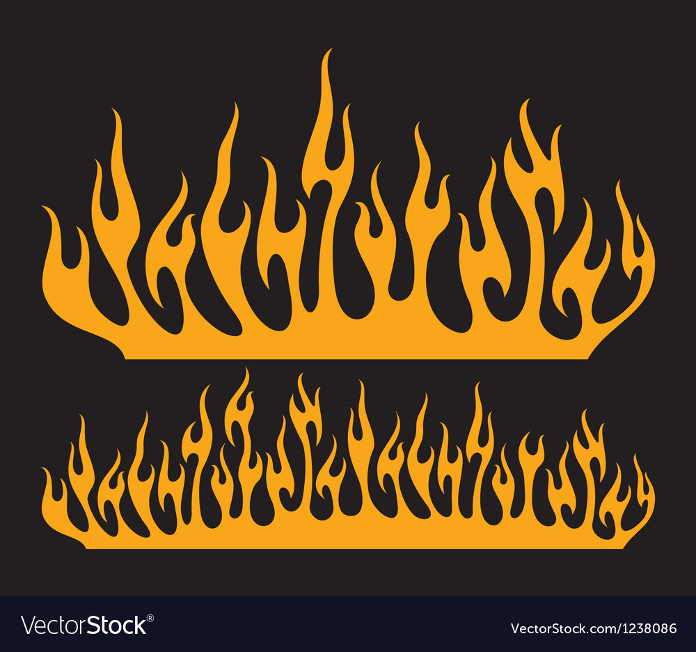 Burn flame vector | Price: 1 Credit (USD $1)