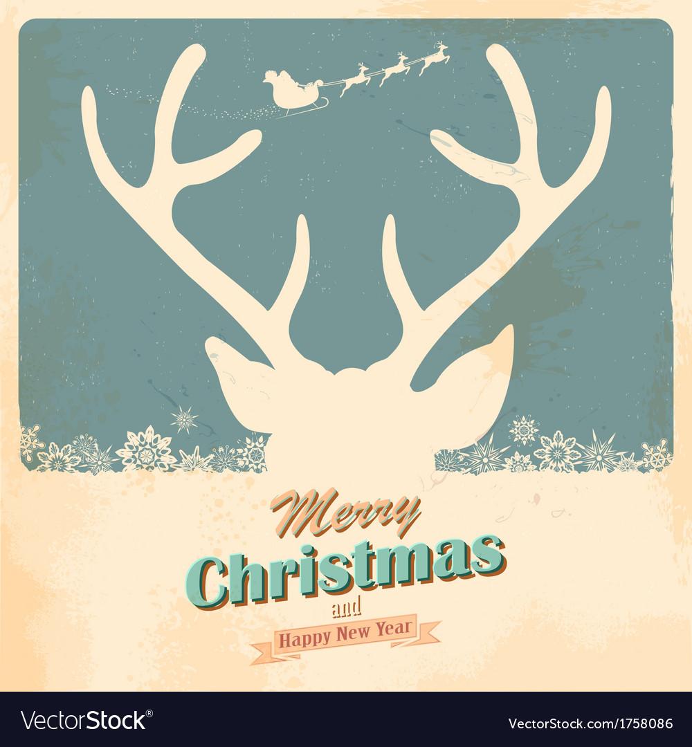 Christmas reindeer vector   Price: 1 Credit (USD $1)