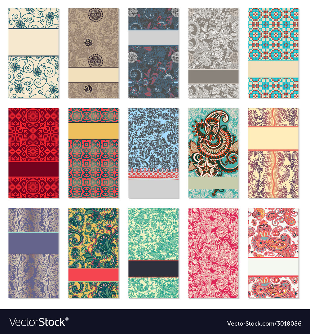 Collection of colorful floral ornamental business vector   Price: 1 Credit (USD $1)