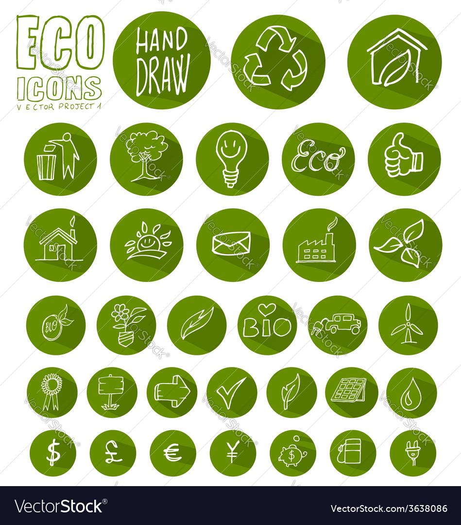 Eco-icon-button-set-vector