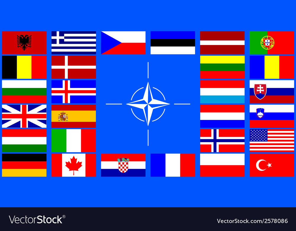 Flags of the nato countries vector | Price: 1 Credit (USD $1)