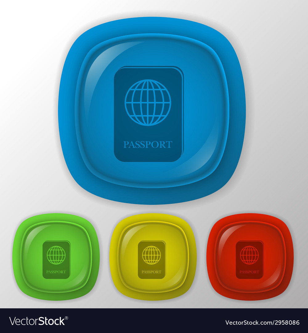 International passport vector | Price: 1 Credit (USD $1)