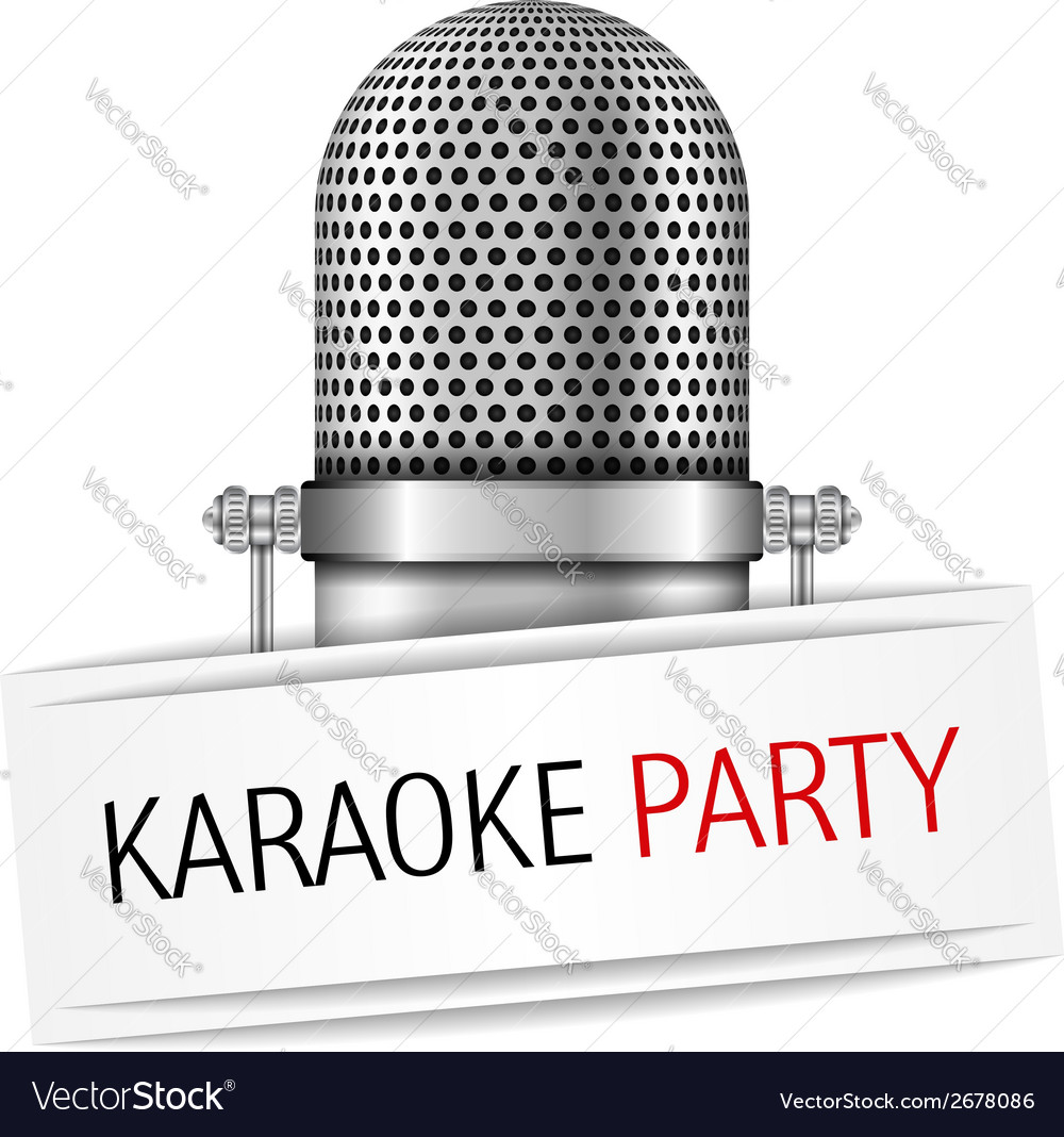 Karaoke party banner vector | Price: 1 Credit (USD $1)