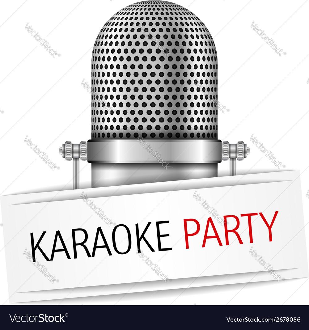 Karaoke party banner vector | Price: 1 Credit (USD $1)