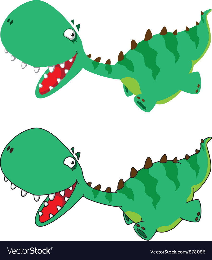 Little running dino vector | Price: 3 Credit (USD $3)