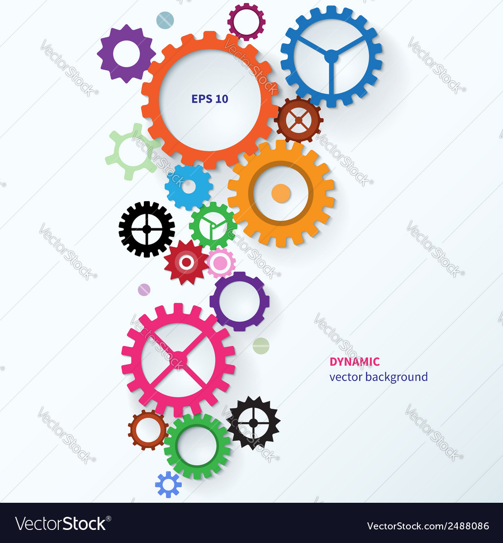 Modern abstract colorful industrial gear vector | Price: 1 Credit (USD $1)