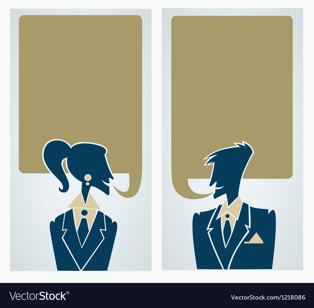 Office man and woman chatting people vector | Price: 1 Credit (USD $1)