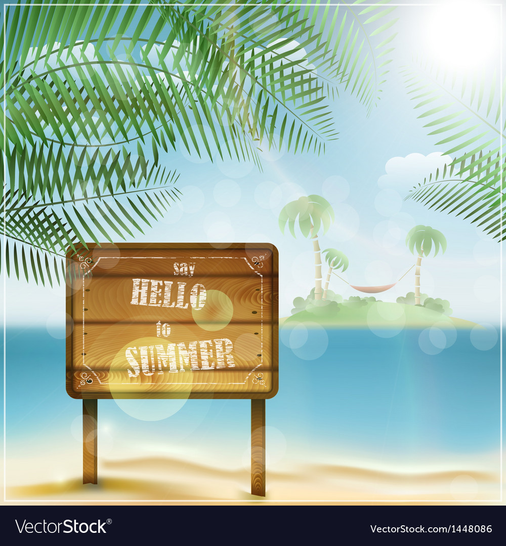 Say hello to summer vector | Price: 1 Credit (USD $1)