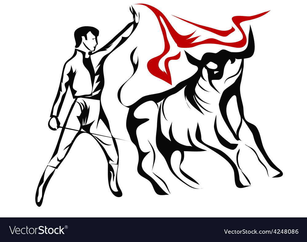 Spanish bullfighter vector | Price: 1 Credit (USD $1)