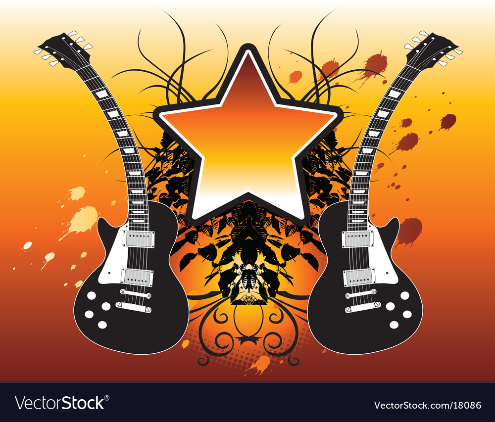 Star guitars vector | Price: 1 Credit (USD $1)
