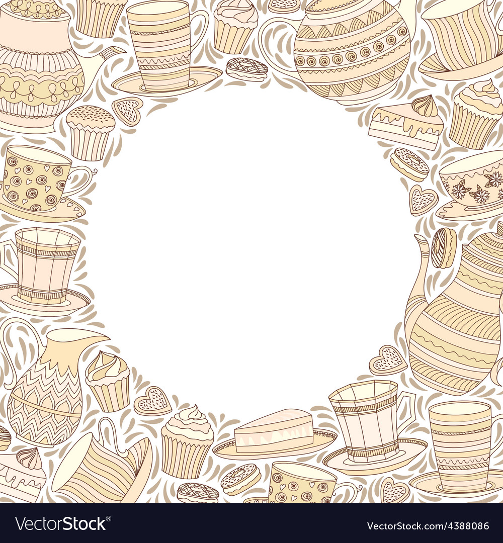 Tea time frame vector | Price: 1 Credit (USD $1)