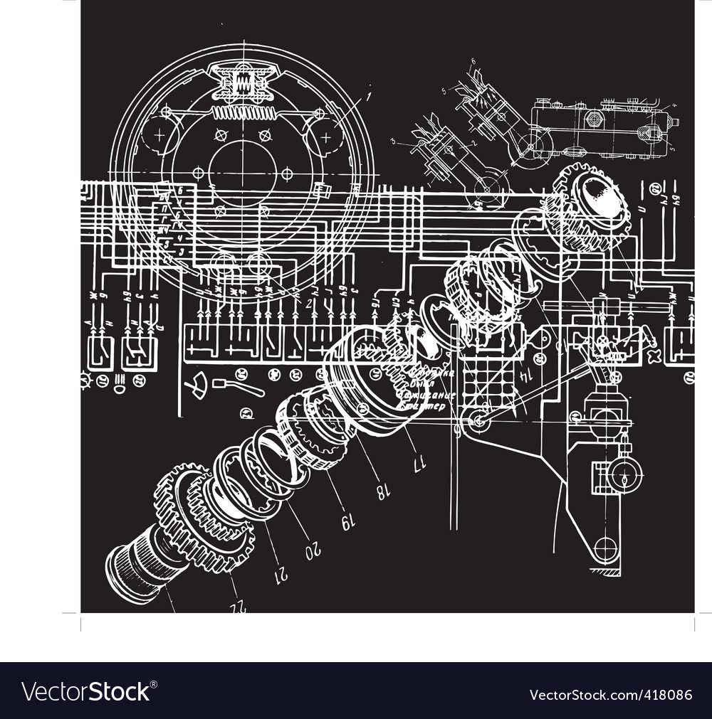 Technical drawing vector | Price: 1 Credit (USD $1)