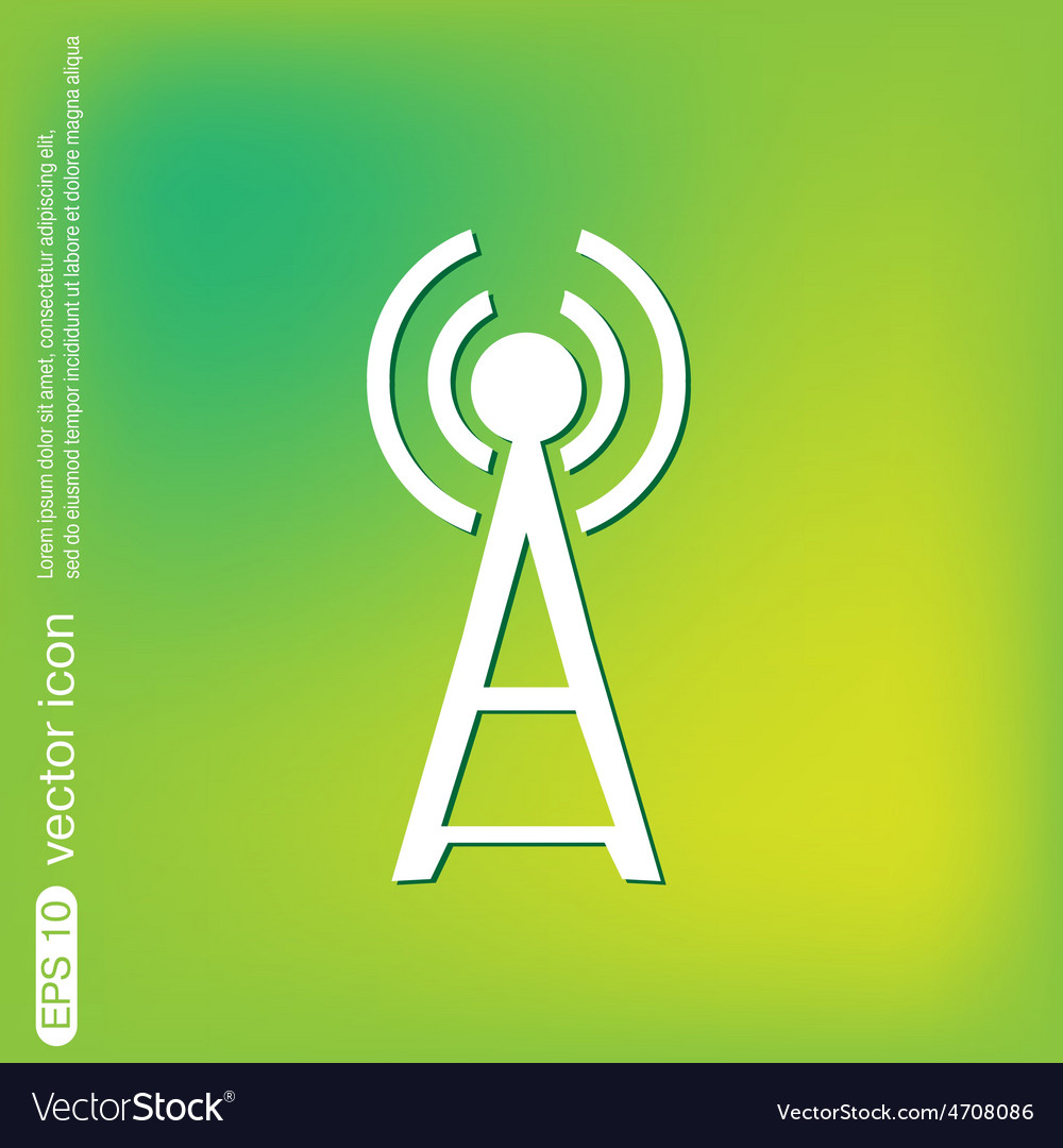Tower wi-fi vector   Price: 1 Credit (USD $1)