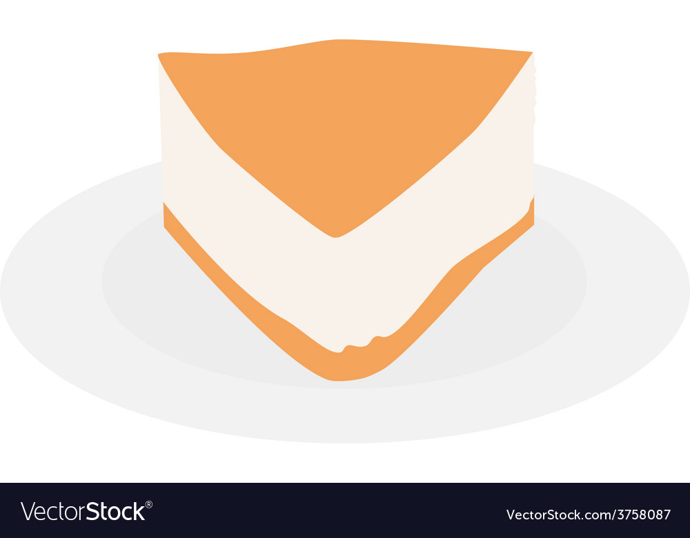 Cake slice plate vector | Price: 1 Credit (USD $1)