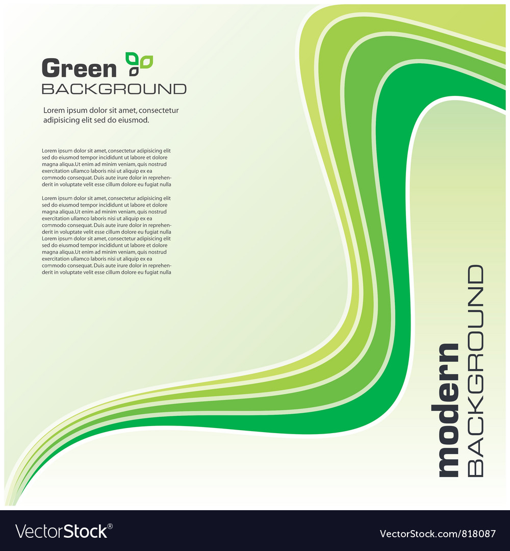 Green ecology modern background vector | Price: 1 Credit (USD $1)