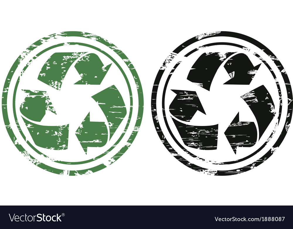Grunge recycling stamp vector | Price: 1 Credit (USD $1)