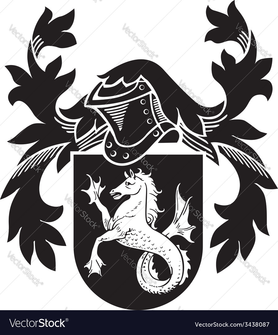 Heraldic silhouette no7 vector | Price: 1 Credit (USD $1)
