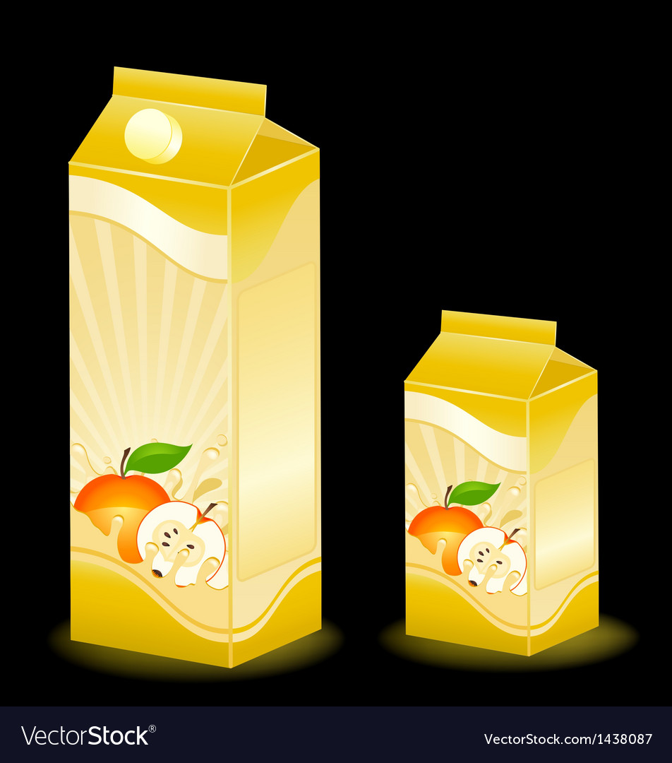 Juice carton with various fruits vector | Price: 1 Credit (USD $1)