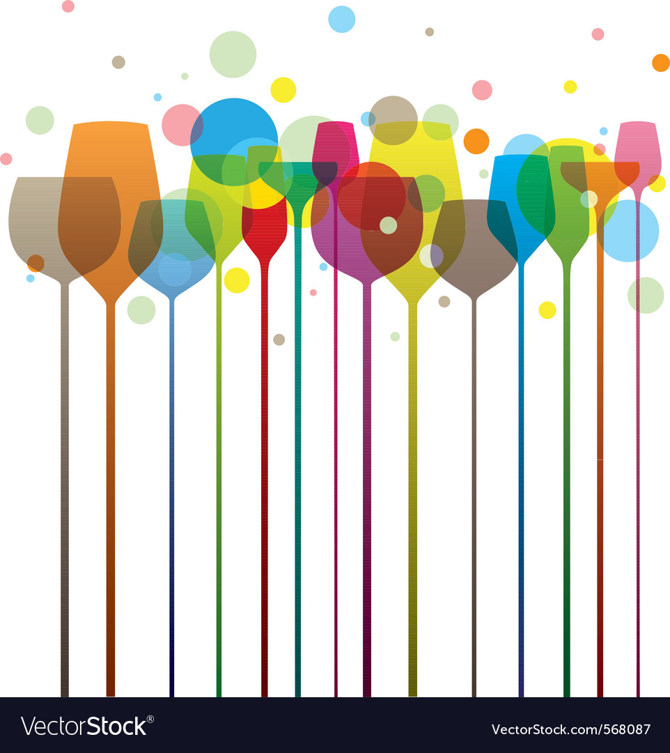 Party glasses vector | Price: 1 Credit (USD $1)